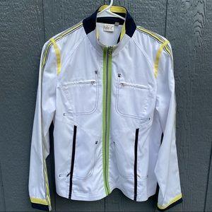 Tail Tech Zip Up Color Block Tennis Jacket L lime
